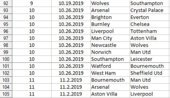 Premier League Fixtures Preview Photo